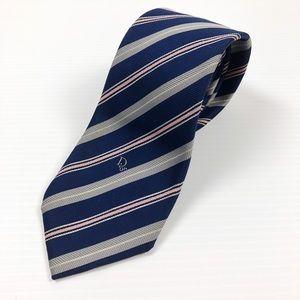 Dior Blue Pink Striped Mens Neck Tie Formal Wear